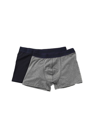 Cotton Bar Boxer Lacivert